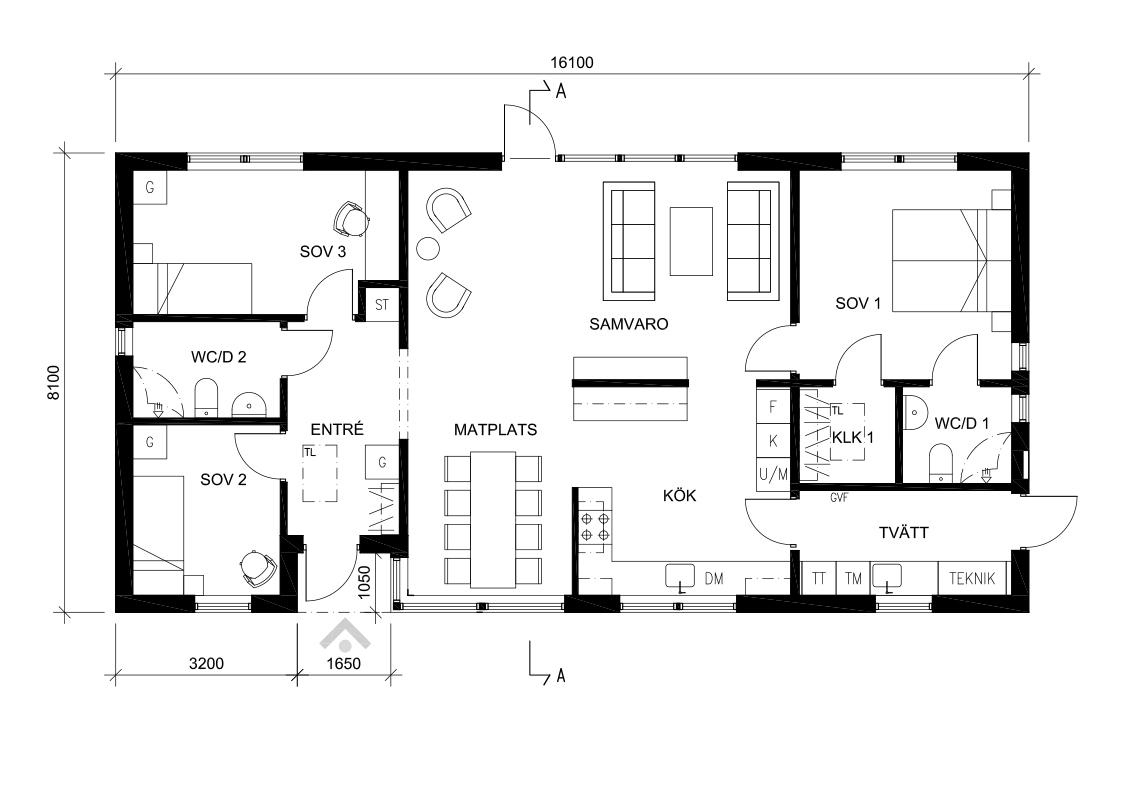 Villa Lycka planlosning